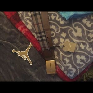 Burberry horsefly checked belt size 85
